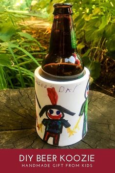 c0cd149622bb45 DIY beer koozie handmade gift for dad from kids  handmade  birthday   christmas