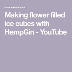 Making flower filled ice cubes with HempGin Ice Cubes, Make It Yourself, Videos, Flowers, Youtube, Blog, Blogging, Royal Icing Flowers, Flower