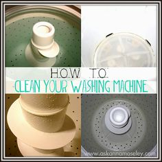 Tips for cleaning your washing machine.  http://www.askannamoseley.com #cleaning