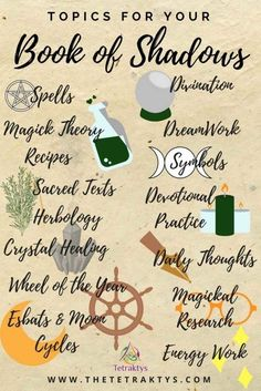 "witch-magic: ""If you are a baby witch, I would recommend you to start by a book of shadows. A book of shadow is a witche's most precious tool. It is a kind of journal, or diary, in which you write your magickal learnings, spells, etc… Here are some..."
