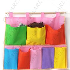 Easy to make Hanging pouch for houehold items