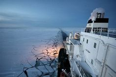 The Ob River, a liquefied natural gas tanker, chugging through the Northeast Passage last month. No more ice, means global warming and climate change mitigation more pressing than Willie Nelson, Lng Carrier, Merchant Navy, Global Warming, East Coast, Climate Change, New York Skyline, Sailing, Cruise