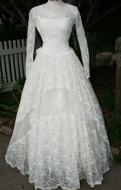 We Were Meant To Be  Circa 1950's  Wedding Gown  by CallMeChula,
