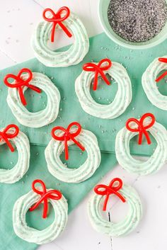 Meringue Wreath Cookies  - Delish.com