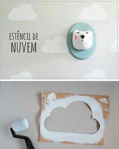 Интересная идея для декорирования детской комнаты
