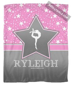 Golly Girls: Personalized Gymnastics Among The Stars Fleece Blanket only at gollygirls.com