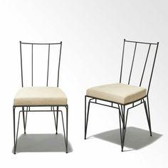 Marc du Plantier wrought iron chairs.