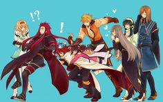 Tales of the Abyss Anime Family, Tales Series, Fun Games, Online Art, Video Games, Character Design, Nerd, Fan Art, Karma