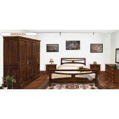 Mobilier dormitor din lemn masiv