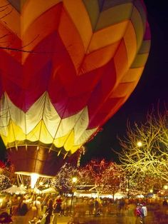 See a picture of the Glendale Glitter and Glow, one of the last events of the holiday season. Glendale, Arizona closes out the holidays with a balloon glow event. Balloon Glow, Glitter Balloons, Hot Air Balloon, Glendale Glitters, Glendale Arizona, Air Ballon, Desert Life, Silent Night, Water Crafts