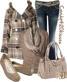 """tweed toms"" by candy420kisses on Polyvore"