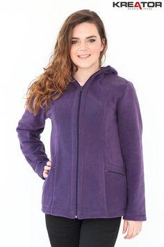 Bluza polarowa z kapturem, Kreator Studio Mody, r. 44 - Rozmiar 44 - Bluzy polarowe