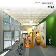Projeto Espaço Infantil Clube D. Pedro II. Conselheiro Lafaiete - MG _Arquitetura.Urbanismo.Mobiliário.Decoração