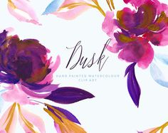 Watercolour Flower Clipart  Solina