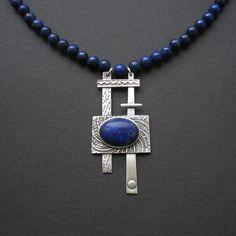 silver, lapis lazuli
