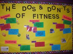 Dos and Don'ts of Fitness Bulletin Board