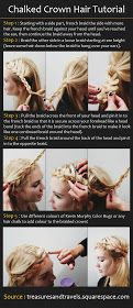 Beauty Tutorials: Chalked Crown Hairstyle
