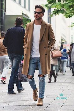 42 comfy winter fashion outfits for men in 2015 clothes moda Mode Masculine, Men Street, Street Wear, Mantel Camel, Fashion Mode, Fashion Outfits, Style Fashion, Mens Boots Fashion, Mens Fashion Blog