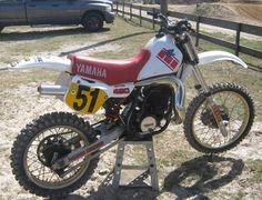 Yamaha YZ490 - the last big bore from Yamaha.  I think 1983. Photo courtesy of Vintage Factory