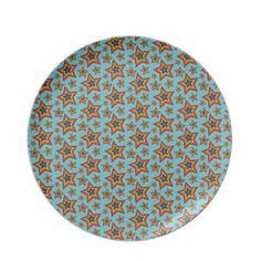 #Retro #Rainbow Stars Pattern #Dinner #Plates $28.10