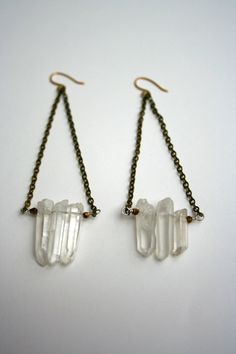 Swati Jr's #crystal dagger earrings echo the strength and clarity of the stunning scandinavian fjords.