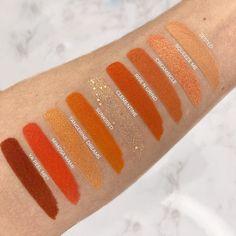 """Swatches der """"Orange you glad? Palette"""" von Colourpop, die mit 9 Lidschatten in unterschiedlichen Orangetönen besticht. #review #beauty #beautyblog #lidschatten #eyeshadow Orange You Glad, Beautiful, Beauty, Beauty Illustration"""