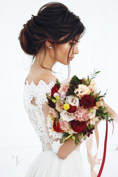 Brautmode atemberaubende hochzeitsfrisuren 2019 long wedding hairstyles and wedding updos ideas diy wedding updo hairstyle tutorial wedding weddnghairstyles hairstyles tutorial Wedding Hairstyles For Long Hair, Wedding Hair And Makeup, Hair Wedding, Hairstyle Wedding, Elegant Wedding Hairstyles, Short Hairstyles, Beautiful Hairstyles, Bridal Makeup, Short Hair Brides