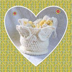 Owl Basket Spa Set, Crochet Bath Set, Cotton Washcloths, Kitchen Dish Rags by SandeesKreations on Etsy
