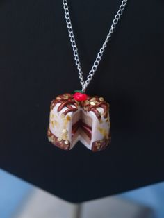 my favorite cake pendant! Handmade Necklaces, Clay, Pendants, Pendant Necklace, My Favorite Things, Jewelry, Clays, Jewels, Pendant