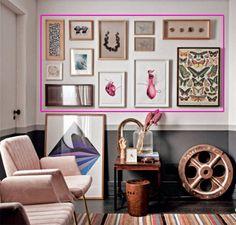 Com papelão, fita adesiva e geometria fica mais fácil visualizar o resultado antes de pendurar pinturas e fotografias