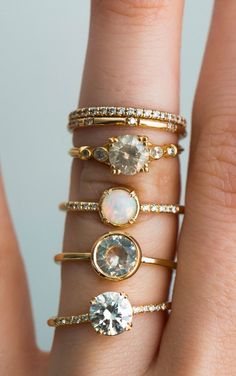 One of a kind ethical engagement rings by S. Kind & Co, swoon!