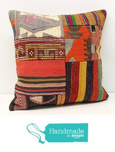 Decorative Patchwork kilim pillow cover 18x18 inch (45x45 cm) Handmade Kilim pillow cover Sofa Decor Accent Hand woven Cushion Cover from Kilimwarehouse https://www.amazon.com/dp/B01N1W5FZE/ref=hnd_sw_r_pi_dp_TPMyyb1FA8EJM #handmadeatamazon