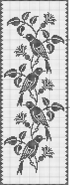 filet crochet birds Best Picture For Crochet Pattern stitches unique For Your Taste You are looking for something, and it is going to tell you. Cross Stitch Bird, Cross Stitch Charts, Cross Stitch Designs, Cross Stitching, Cross Stitch Embroidery, Cross Stitch Patterns, Crochet Curtains, Tapestry Crochet, Crochet Motif