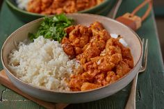 Chicken Tikka Masala, Cauliflower, Curry, Food Porn, Food And Drink, Rice, Cooking Recipes, Ethnic Recipes, Health