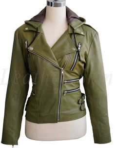 817c5f477376 10 Best green leather jackets images in 2017 | Green leather, Green ...