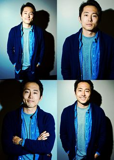 Steven Yeun LOOK AT HIS DIMPLES THAT FIRST PIC IS THE DEATH OF ME OMG HES SO CUTE