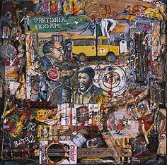 Tribute to Biko by Willie Bester - Pigozzi Collection 2013 - Contemporary African Art Collection