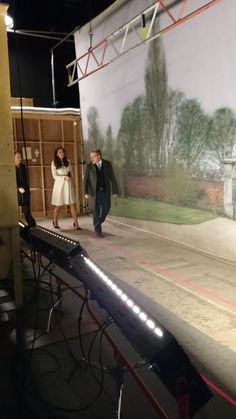 "March 12, 2015 - "".@DowntonAbbey attracts an audience of around 120 million worldwide. HRH toured the studio home @ealingstudios today"""