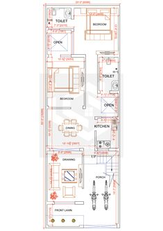 2bhk House Plan, 3d House Plans, Indian House Plans, Model House Plan, Simple House Plans, House Layout Plans, Home Design Floor Plans, Duplex House Plans, Bungalow House Plans