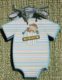 The Avid Scrapper: Onesie Baby Boy Brag Book / Scrapbook Album