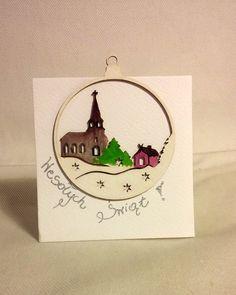 Mini kartka świąteczna - bombeczka (nr 1) #christmas #christmascard #cards #glassball