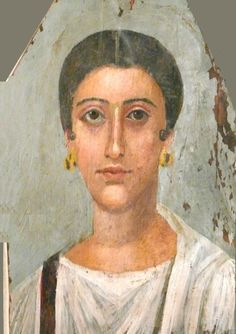 Mummy portrait of a Woman, Egypt, Fag el Gamus(?), AD 150-180 (Brooklyn, NY, Brooklyn Museum of Art) , Encaustic on wood. MOD