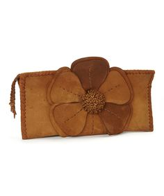 Look at this Adam Alexis Café Natalie Leather Clutch on #zulily today!