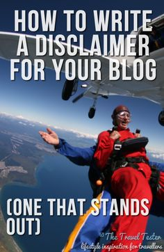 How To Write A Disclaimer For Your Blog: One That Stands Out by The Travel Tester #travelwriting #travelblogging #disclaimer