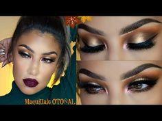 Maquillaje BORGOÑA de OTOÑO/ Fall burgundy makeup | auroramakeup - YouTube