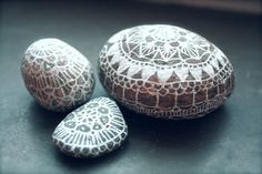 Doily stones! Pebbles/stones will never be the same.
