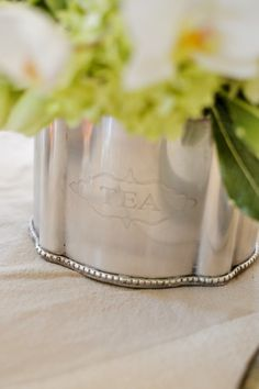 An antiqued silver-p
