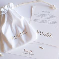 Have been super busy finalising RUUSK packaging these past few days! Minimal - white & gold. Simple beauty