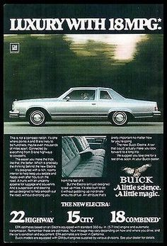 Buick Electra A little science A little magic 1978 Photo Ad
