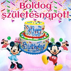 Share Pictures, Animated Gifs, Happy Birthday, Birthday Cake, Name Day, Holiday, Desserts, Watch, Tulips